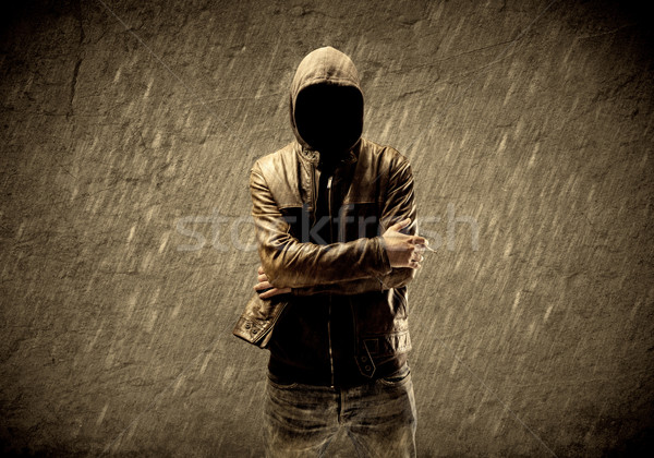 Unknown unidentifiable urban hooligan Stock photo © ra2studio