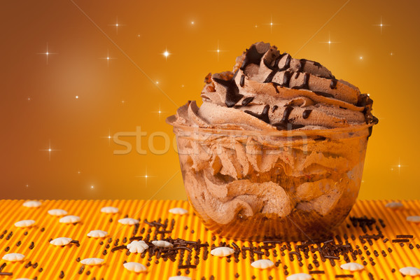 Close up of a delicious colorful baked cake with star background Stock photo © ra2studio