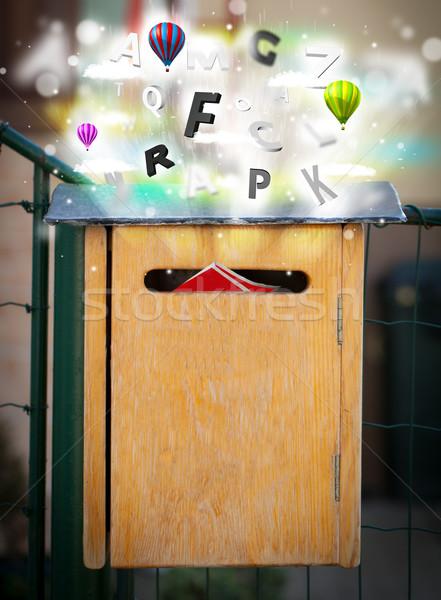 пост окна красочный письма аннотация бумаги Сток-фото © ra2studio