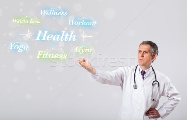 Klinikai orvos mutat egészség fitnessz gyűjtemény Stock fotó © ra2studio