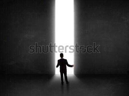 глядя стены свет туннель открытие Сток-фото © ra2studio