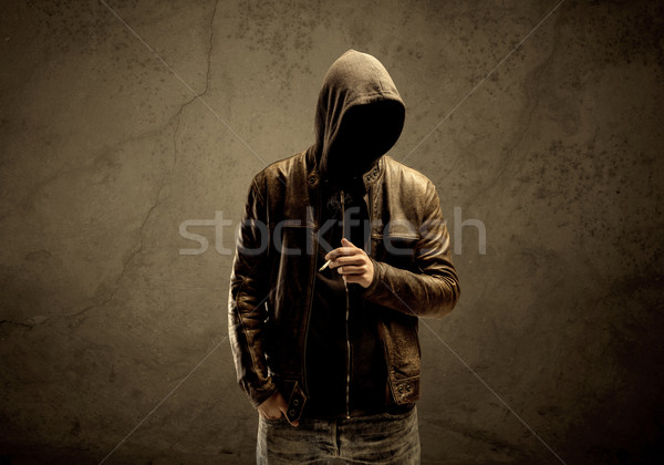 Undercover hooded stranger in the dark Stock photo © ra2studio