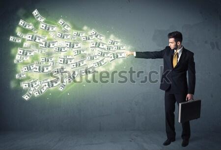Homme d'affaires affaires argent homme Photo stock © ra2studio