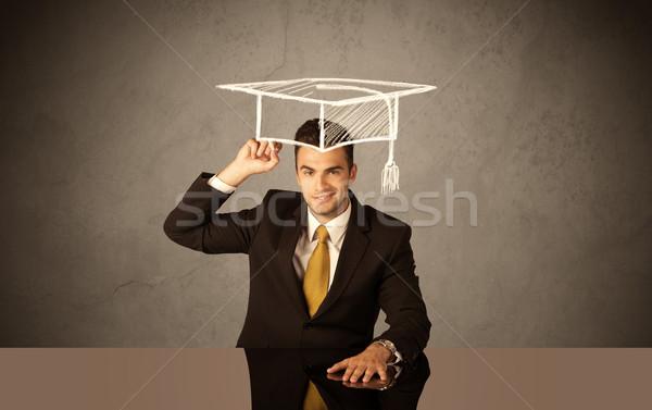 幸せ 大学 大学院 図面 アカデミック 帽子 ストックフォト © ra2studio