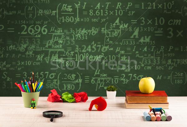 黒板 番号 詰まった 学校 デスク ストックフォト © ra2studio