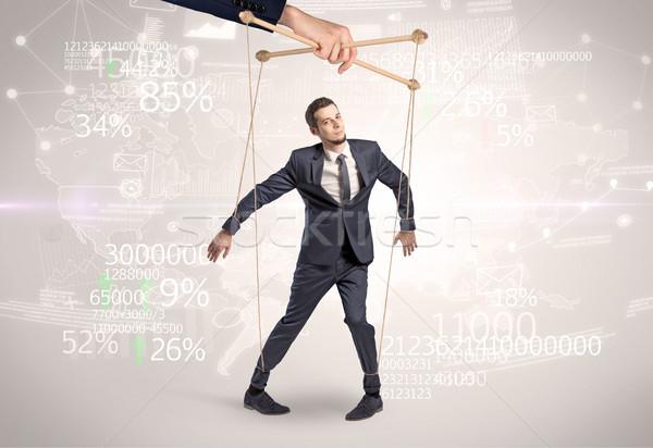марионеточного бизнесмен финансовых другой стороны город Сток-фото © ra2studio