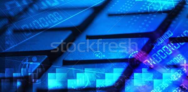 Tastiera programmazione lavoro laptop Foto d'archivio © ra2studio