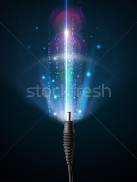 Glowing electric cable Stock photo © ra2studio