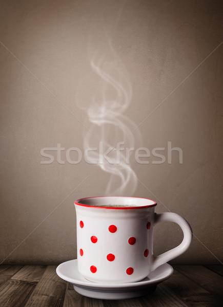 Kahve fincanı soyut beyaz buhar gıda Stok fotoğraf © ra2studio
