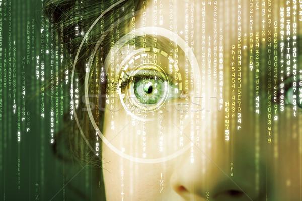 Moderna mujer matriz ojo médicos tecnología Foto stock © ra2studio