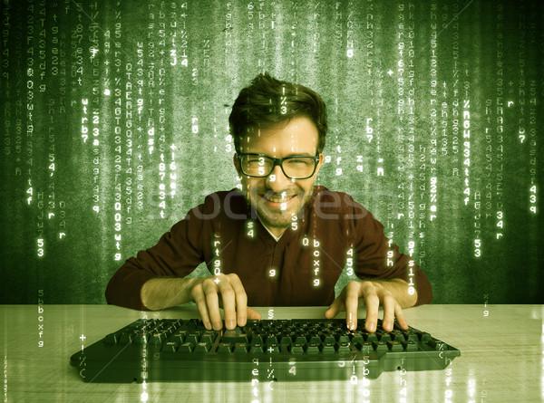 Online hacking in progress concept Stock photo © ra2studio