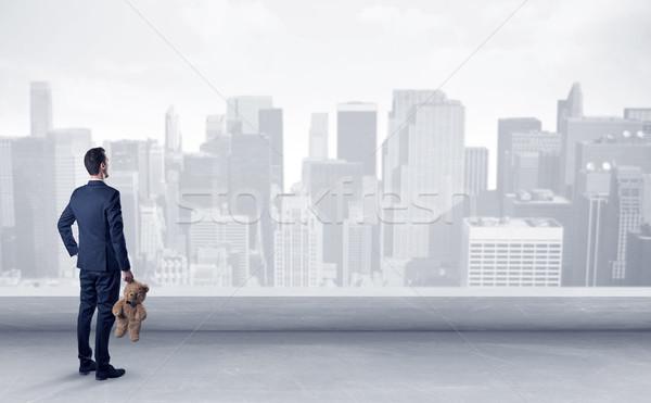 Businessman looking at a big city panorama Stock photo © ra2studio