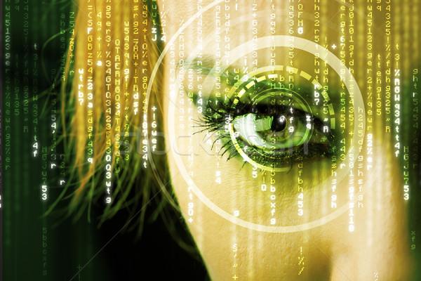 Modern kadın matris göz tıbbi teknoloji Stok fotoğraf © ra2studio