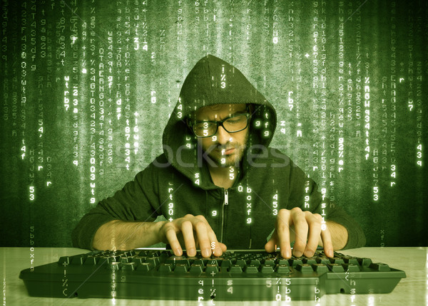Online hacking in progress concept Stock photo © ra2studio