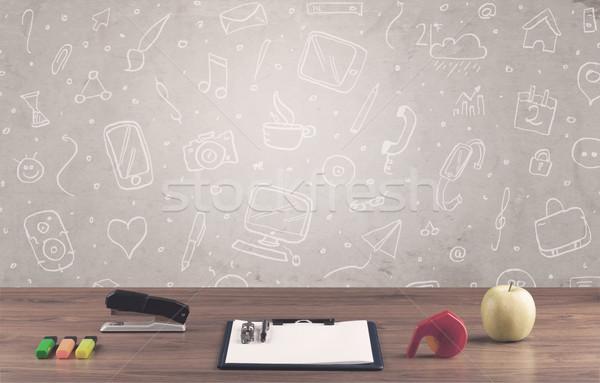 дизайна бизнеса ноутбука Сток-фото © ra2studio