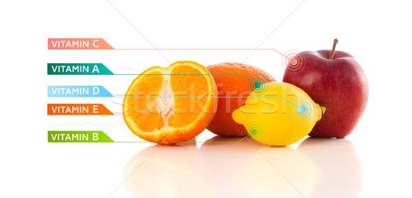здорового плодов красочный витамин иконки Сток-фото © ra2studio