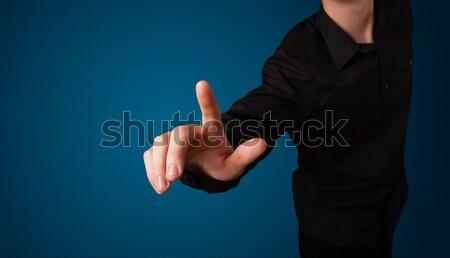 женщину мнимый кнопки стороны Сток-фото © ra2studio