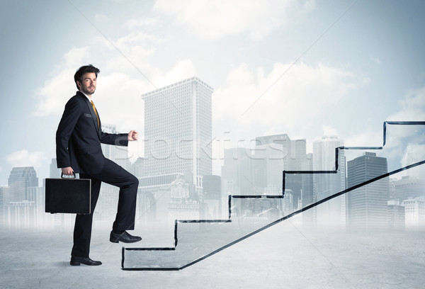 Business person in front of a staircase Stock photo © ra2studio