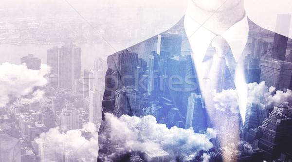 ビジネスマン 立って 市 男 背景 ストックフォト © ra2studio