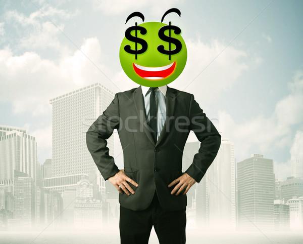 男 ドル記号 笑顔 ビジネスマン ビジネス 幸せ ストックフォト © ra2studio