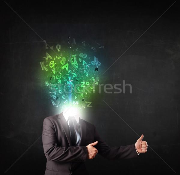 ビジネスマン 抽象的な 文字 頭 顔 ストックフォト © ra2studio