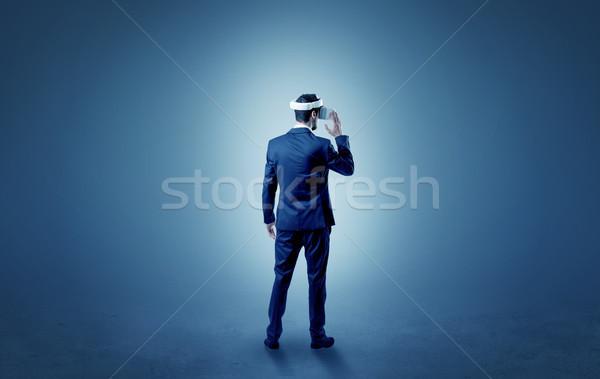 Zakenman lege kamer bril geen behang Stockfoto © ra2studio