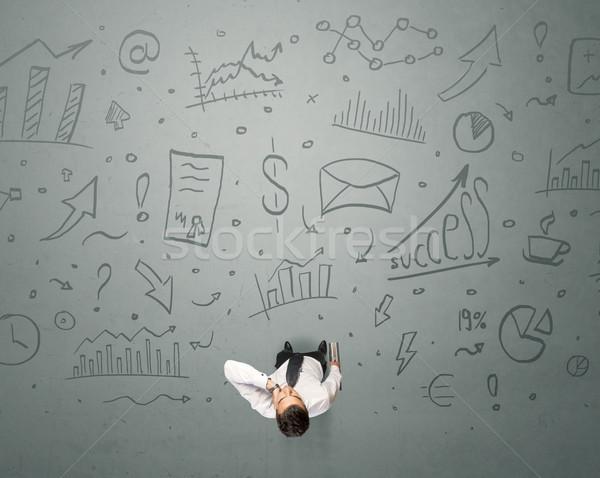 ビジネスマン 決定 小さな ビジネス グラフィックス ストックフォト © ra2studio