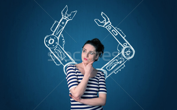 Robotic arms concept Stock photo © ra2studio