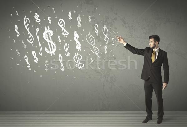 Jonge zakenlieden business hand Stockfoto © ra2studio