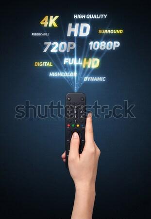 стороны пультом синий телевидение электрических Сток-фото © ra2studio