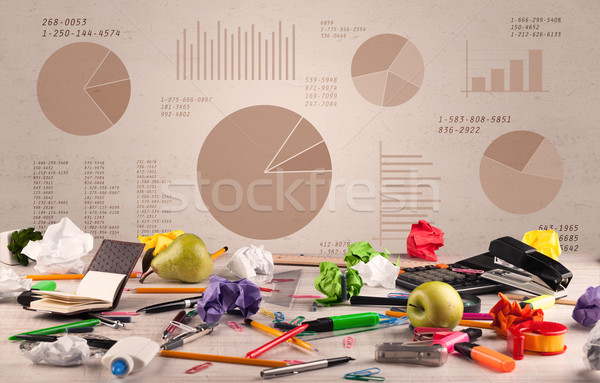 графа графических бизнеса пирог Сток-фото © ra2studio