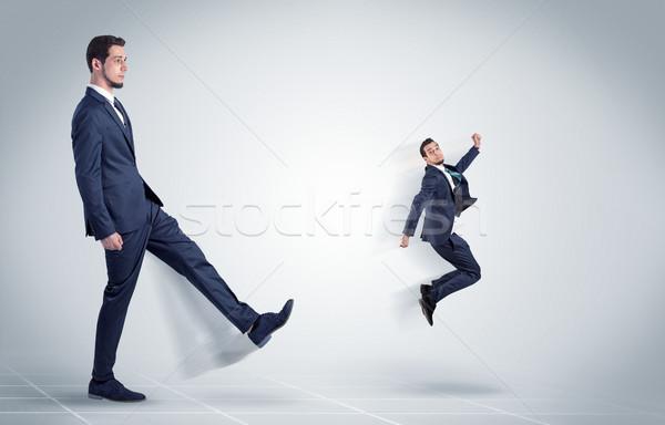 Jovem empresário patrão cruel agressivo branco Foto stock © ra2studio