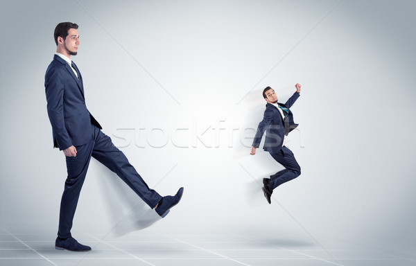 молодые бизнесмен Boss жестокий агрессивный белый Сток-фото © ra2studio