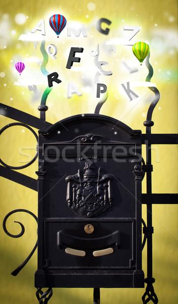 Postar caixa colorido cartas abstrato papel Foto stock © ra2studio