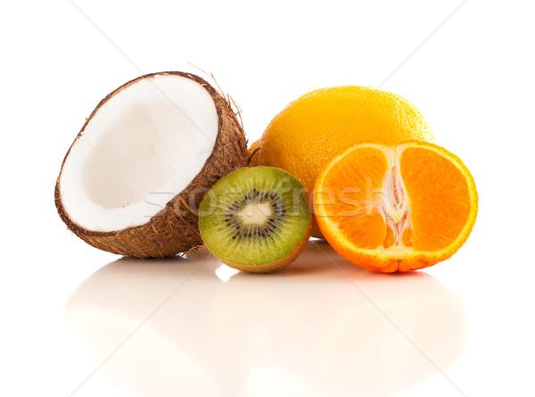 Foto stock: Saludable · tropicales · frescos · frutas · blanco · colorido