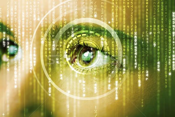 Modernes femme matrice oeil médicaux technologie Photo stock © ra2studio