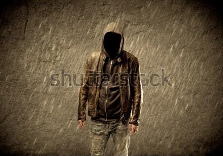 неизвестный городского хулиган странно подозрительный хакер Сток-фото © ra2studio