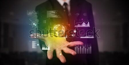 Közelkép női kéz visel felfelé meztelen Stock fotó © ra2studio