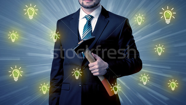 Leader standing with tools on his hand Stock photo © ra2studio