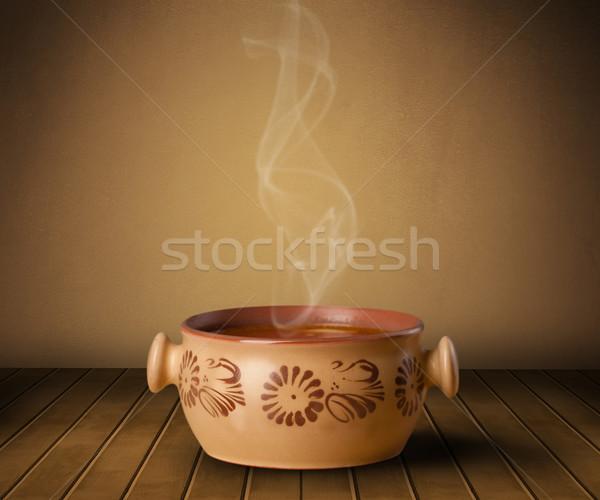 свежие домой приготовленный суп пар Сток-фото © ra2studio