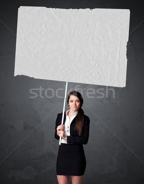 Imprenditrice libretto carta giovani grande Foto d'archivio © ra2studio