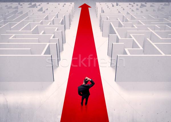 Сток-фото: Smart · бизнесмен · лабиринт · взрослый · элегантный · Постоянный