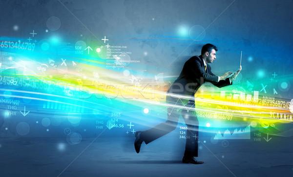 ビジネスマン を実行して 高い ハイテク 波 ストックフォト © ra2studio