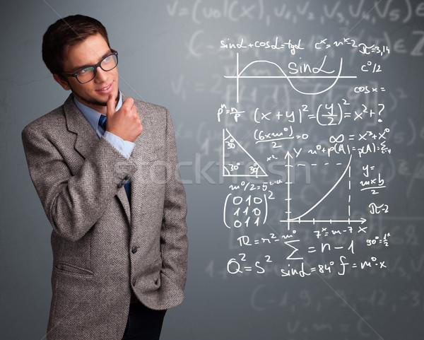 красивый школьник мышления комплекс математический признаков Сток-фото © ra2studio