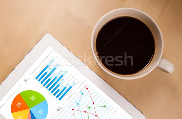 Gráficos Screen taza café escritorio Foto stock © ra2studio