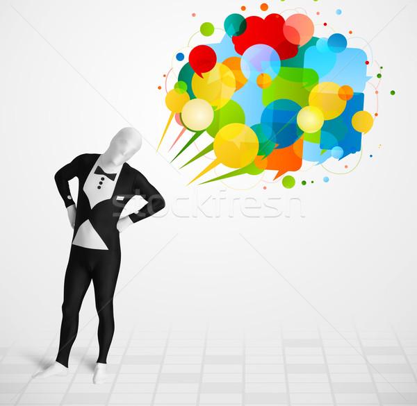 Estranho cara olhando colorido engraçado Foto stock © ra2studio