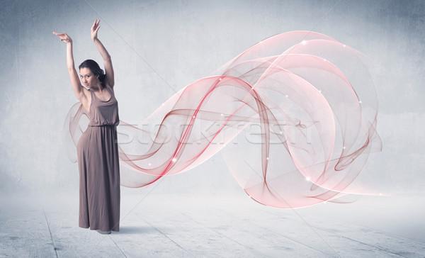 Dancing balletto prestazioni artista abstract turbinio Foto d'archivio © ra2studio