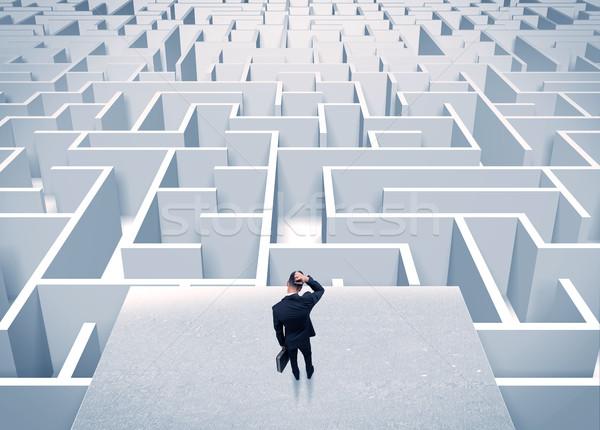 Сток-фото: бизнесмен · бесконечный · лабиринт · элегантный · Постоянный