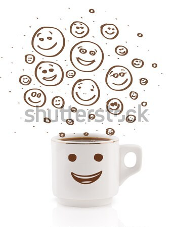 eggs with smiley faces in eggshell Stock photo © ra2studio