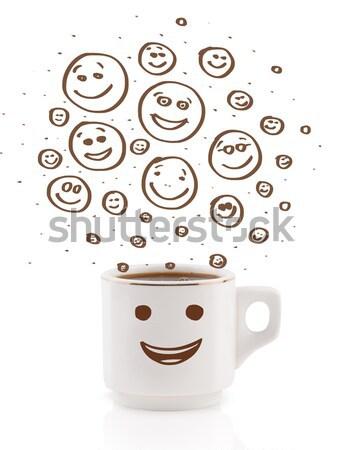Eieren gezichten eierschaal gelukkig glimlach Stockfoto © ra2studio